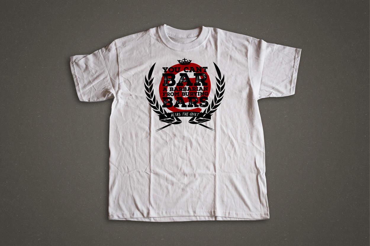 alias the @ikt - barbarian - shirt design