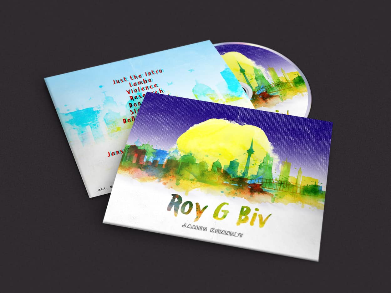 james kennedy - roy g biv - album art design