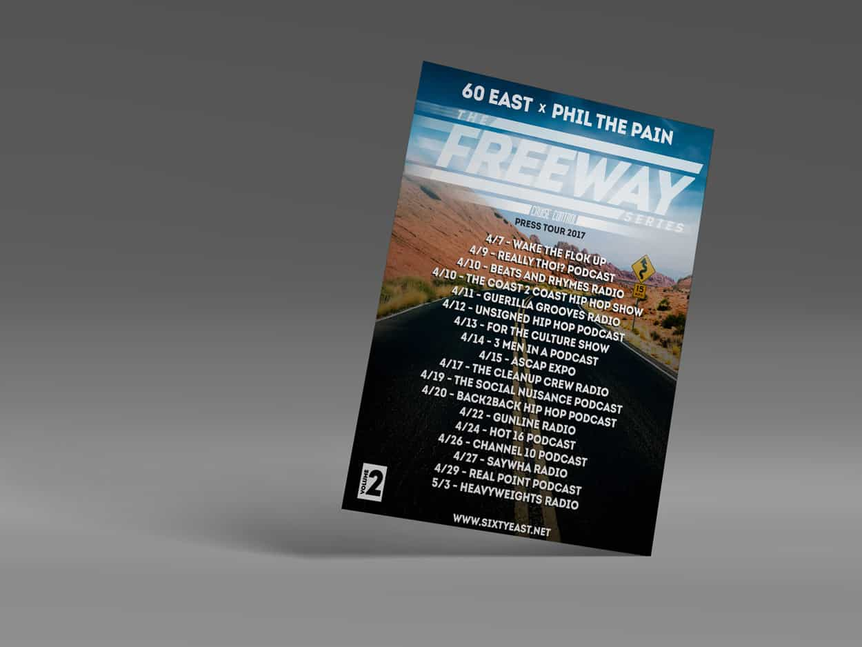 60 east - the freeway series vol 2 - flyer design