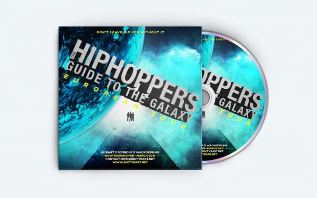 60 east - hip hoppers guide to the galaxy - album art design