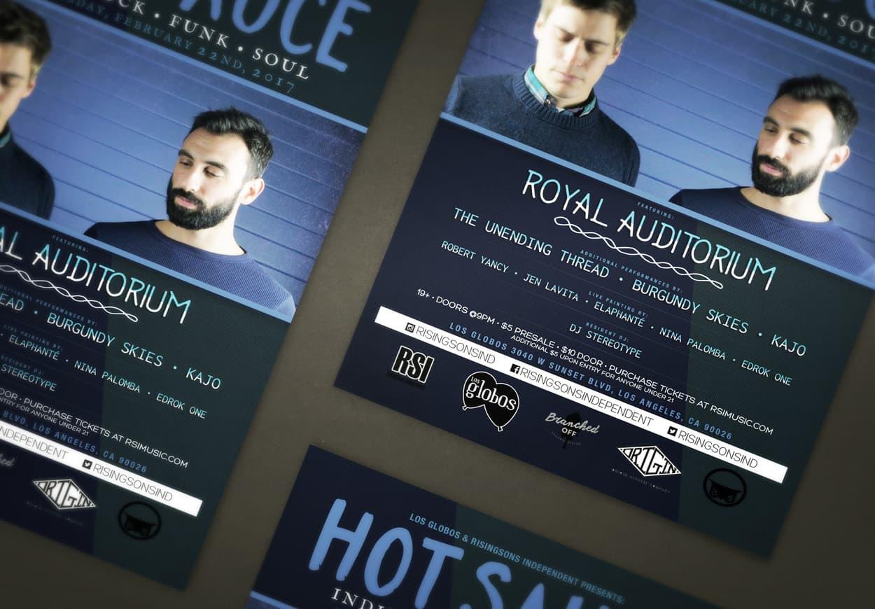 Hot Sauce - Royal Auditorium - Flyer Design