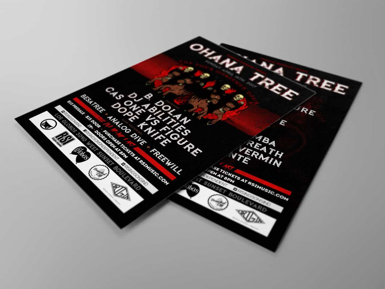 Ohana Tree - The Four Horsemen Tour - Flyer Design