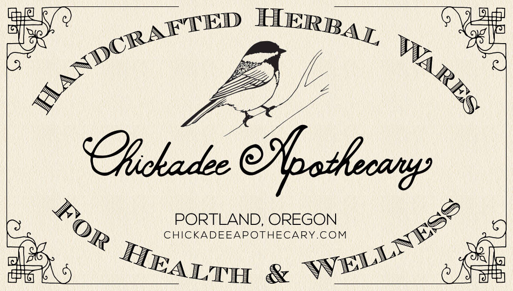 chickadee apothecary - business card design
