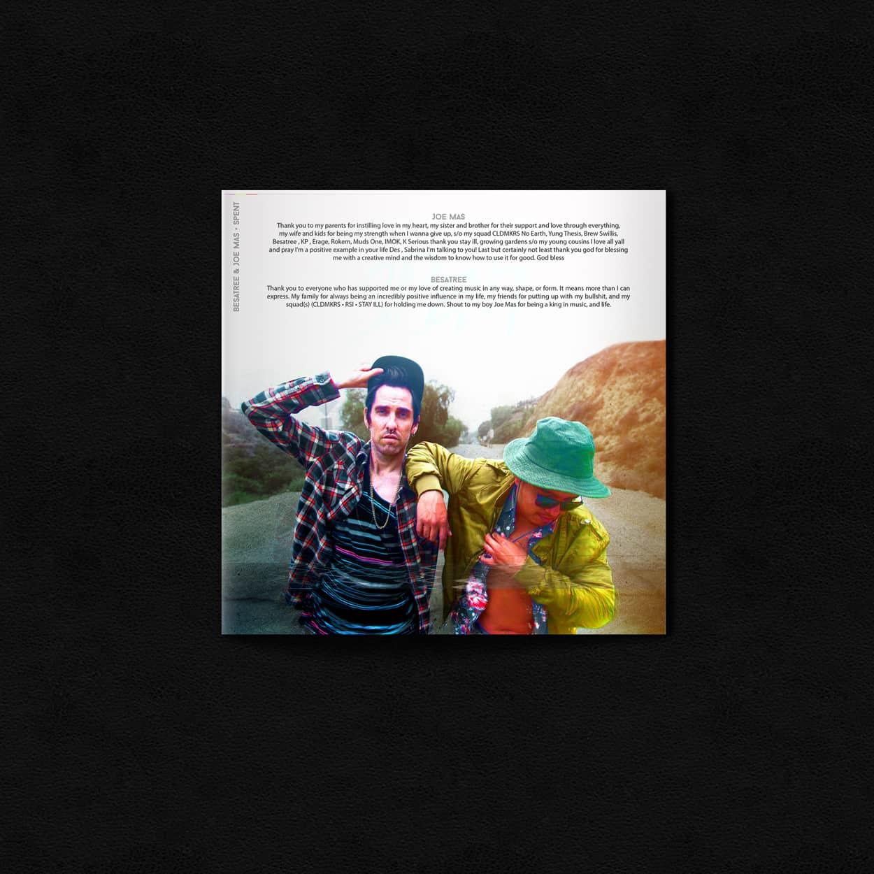 spent - album art design - insert