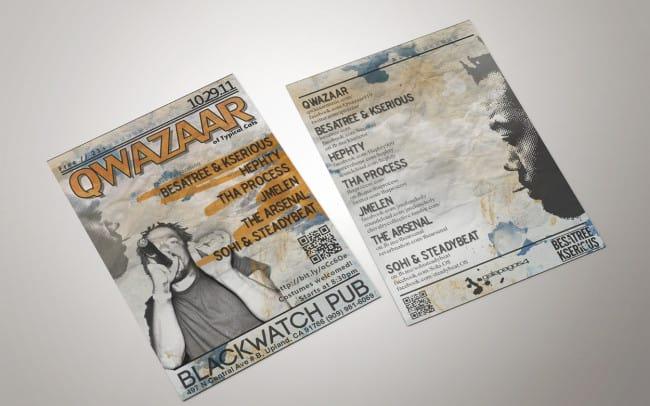 qwazaar - flyer design
