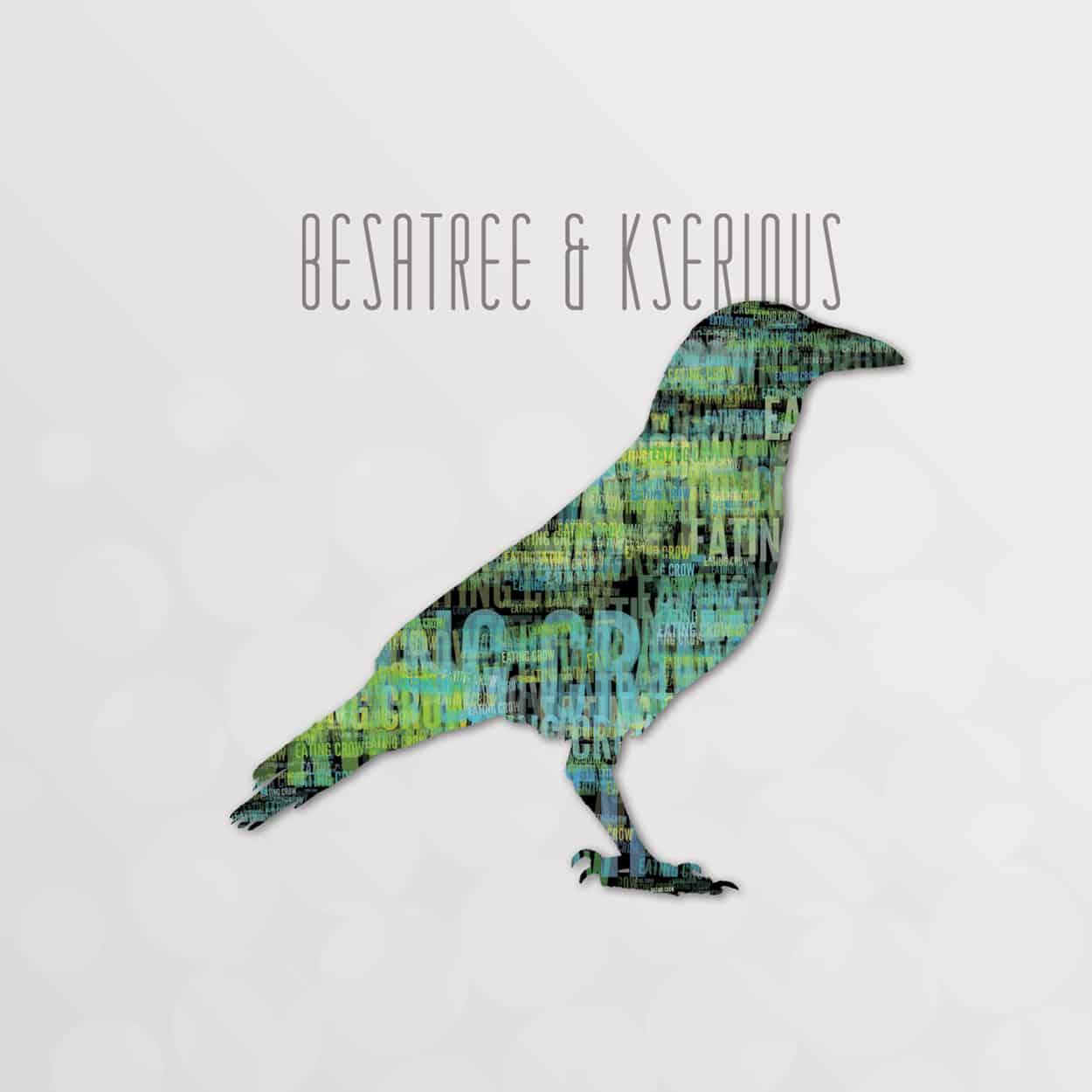 besatree & kserious - eating crow - cd design