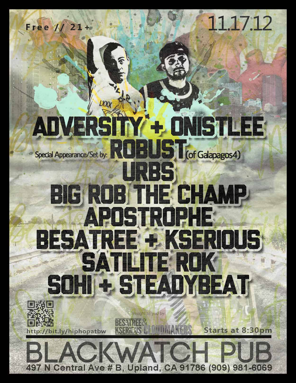 adversity and onistlee - flyer design