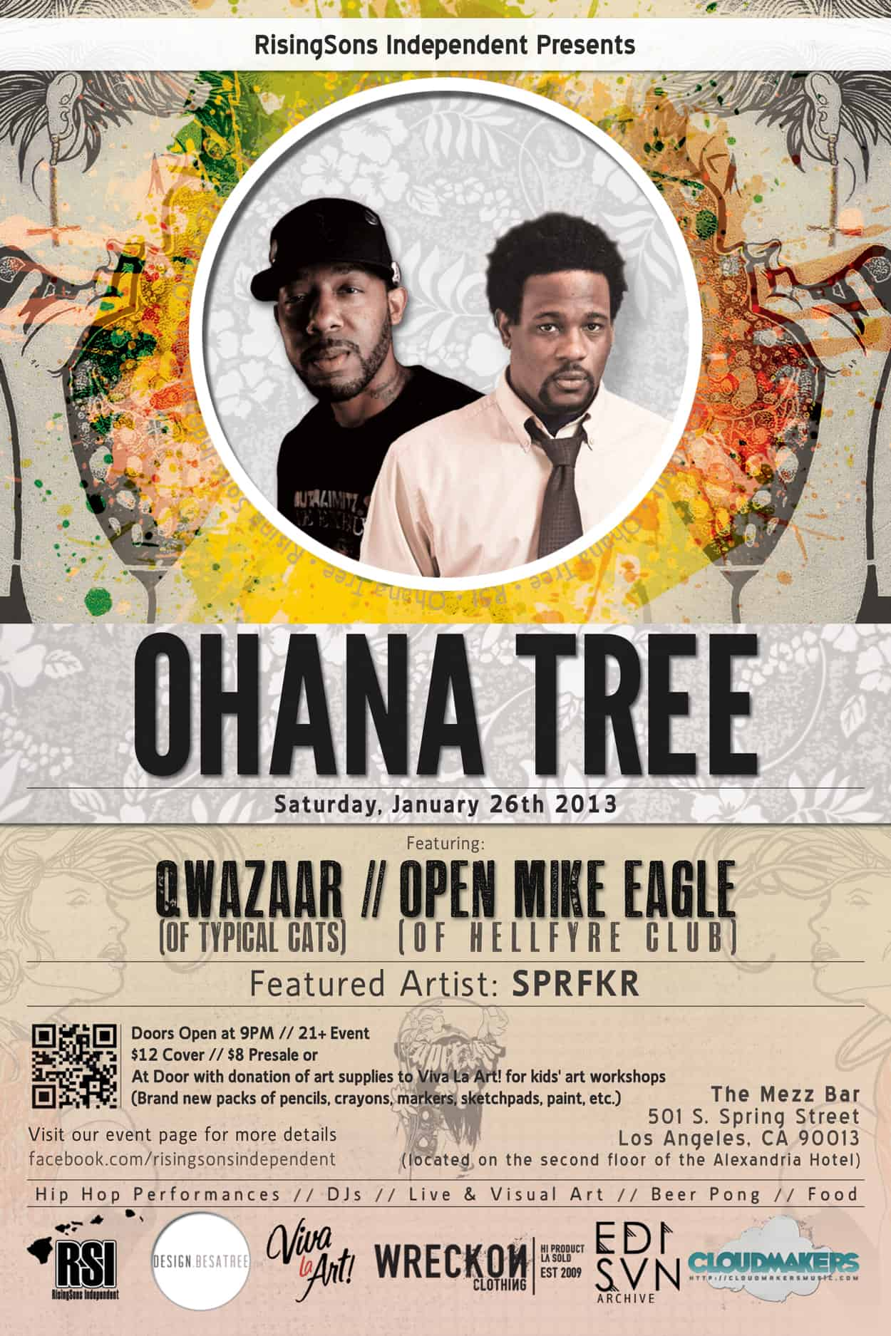 qwazaar and open mike eagle - flyer design