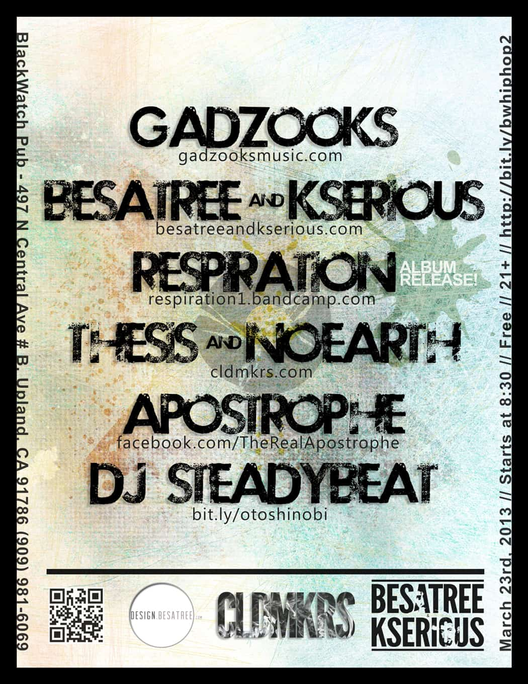 gadzooks - flyer design