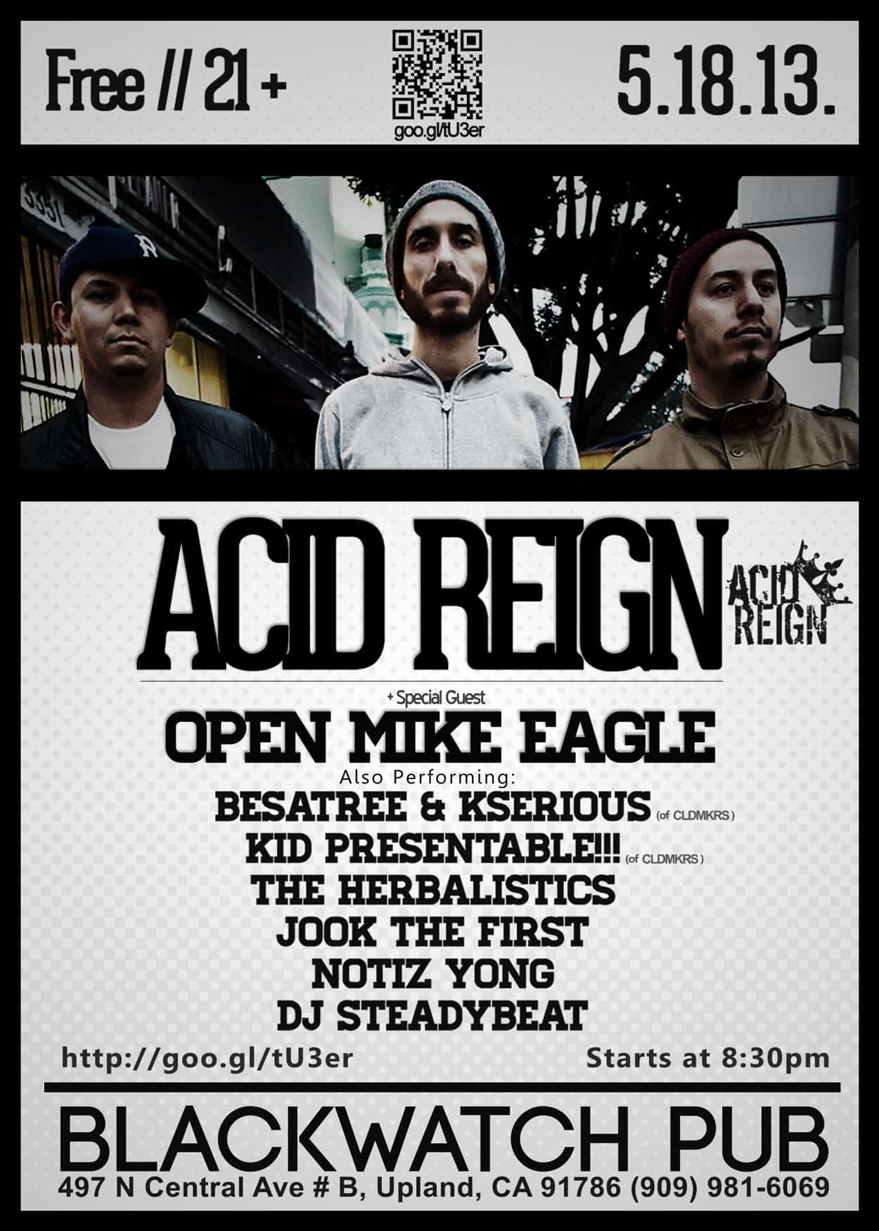 acid reign - flyer design