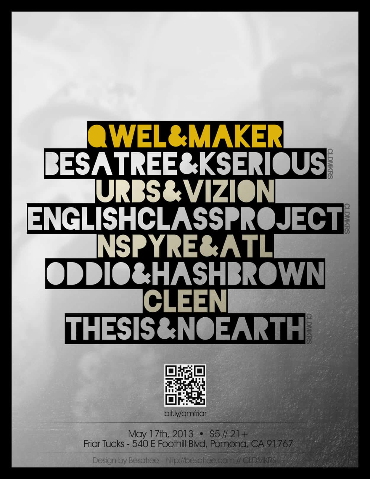 qwel and maker - flyer design