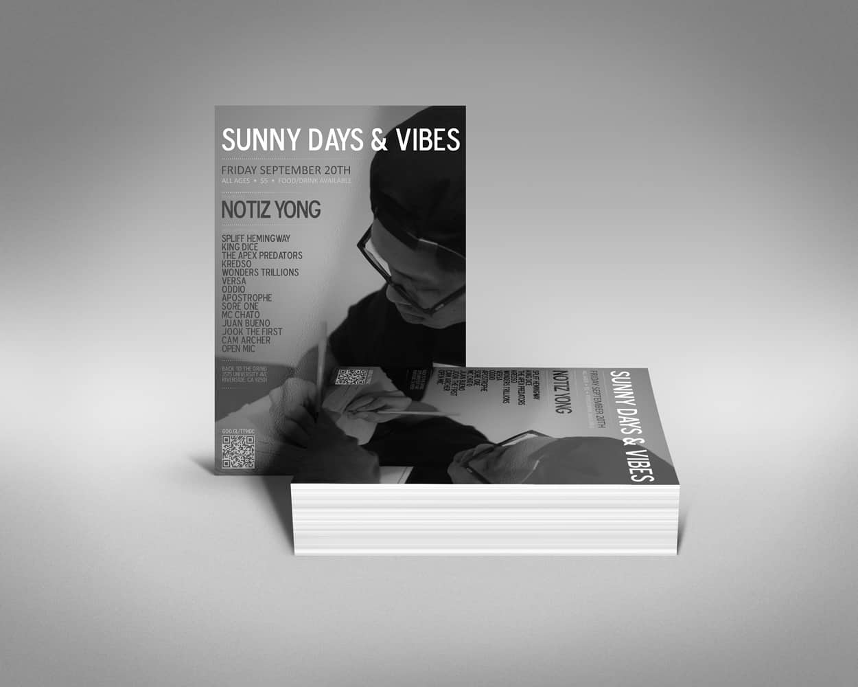 sunny days and vibes - flyer design
