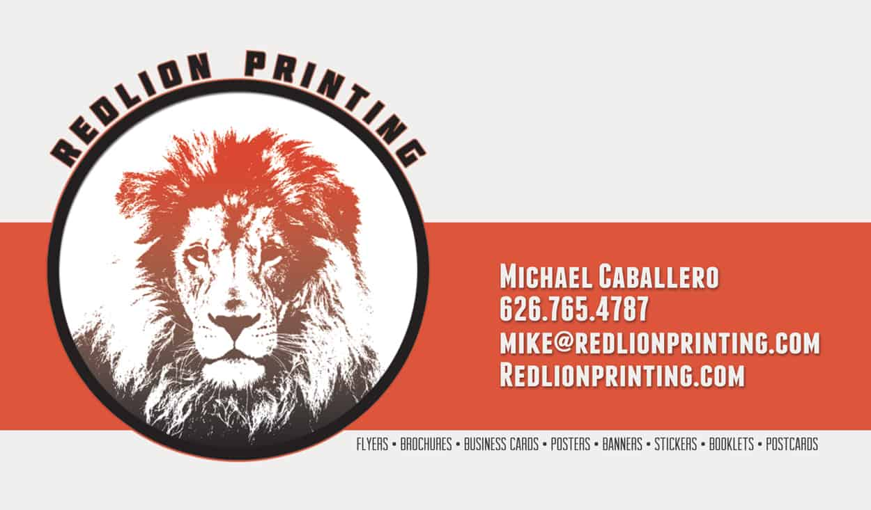 redlion printing - business card design