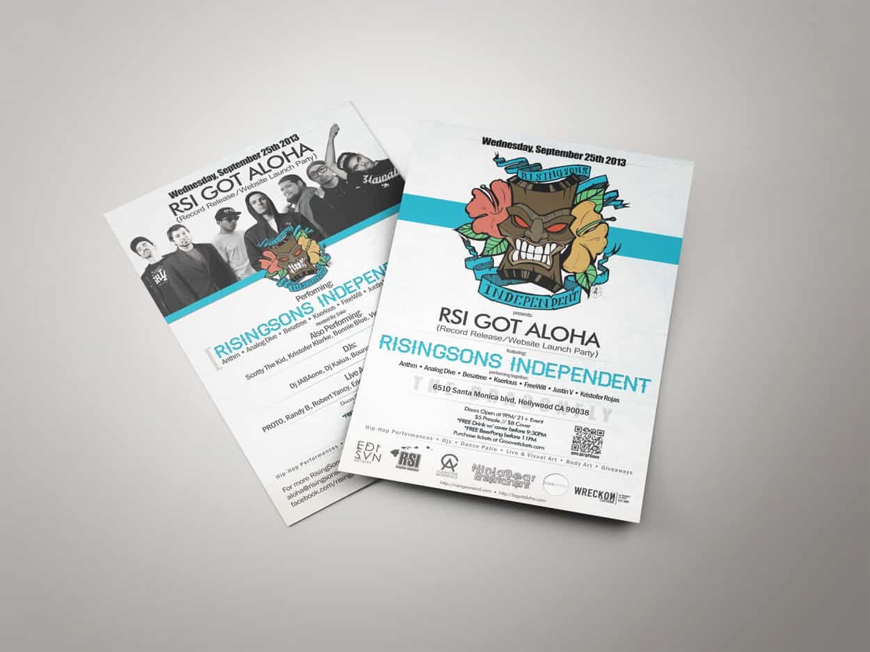rsi got aloha - flyer design