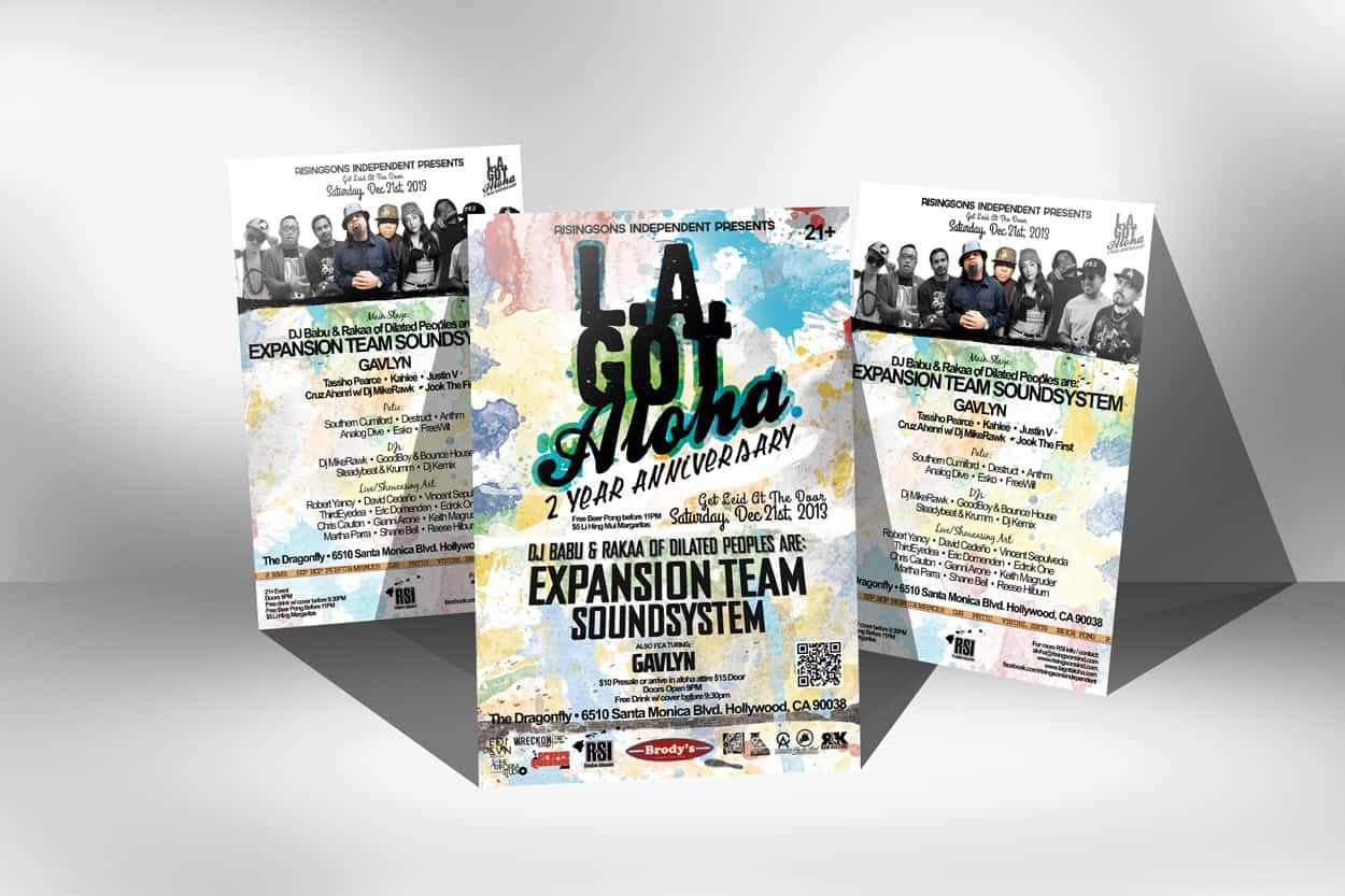expansion team soundsystem - flyer design