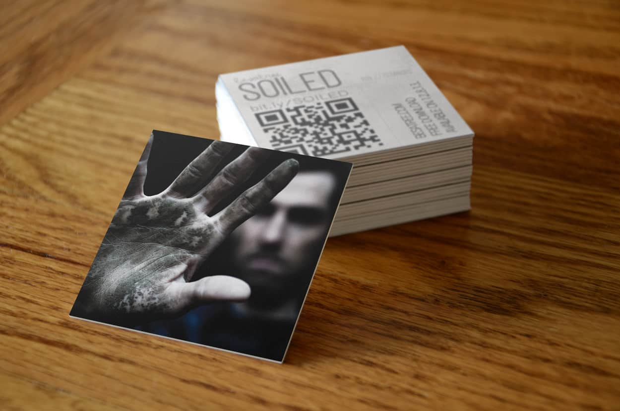 soiled - square business card design
