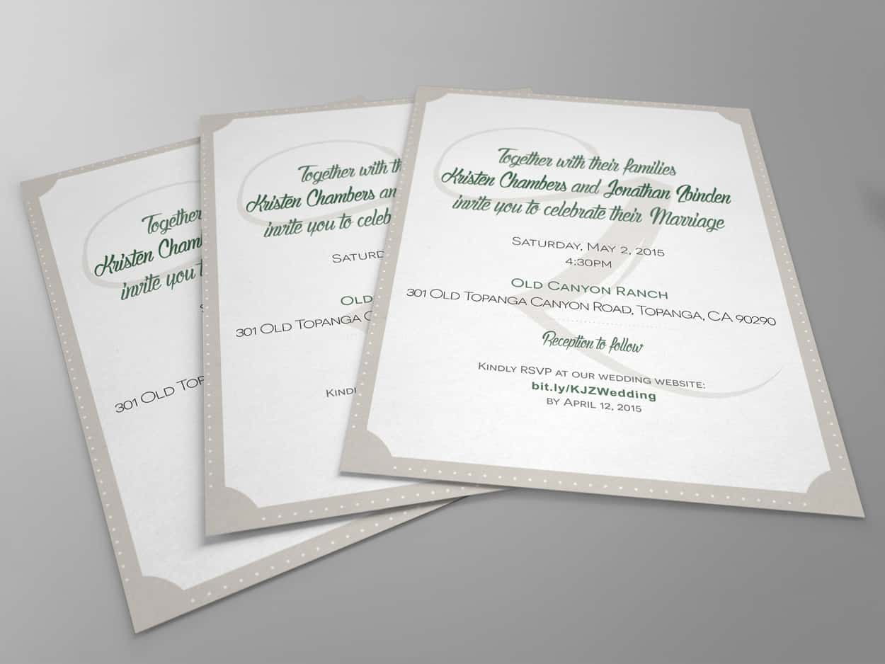 zbinden - wedding invitation design