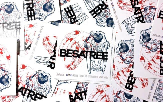 besatree - sticker design - sabertooth