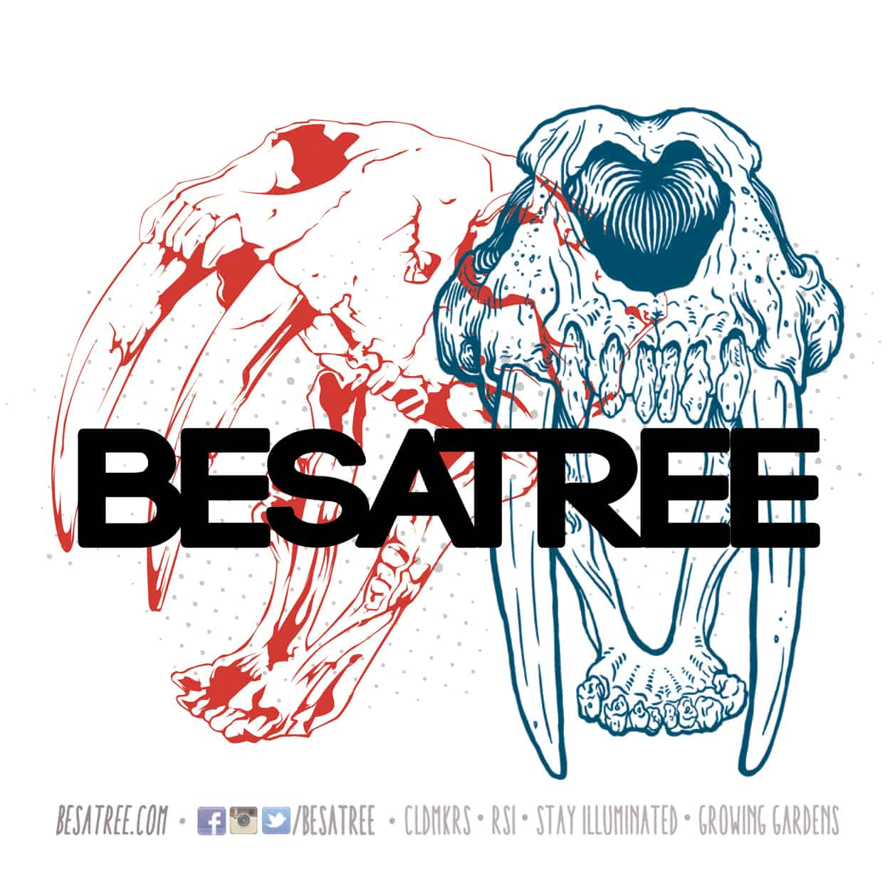 besatree - sticker design - sabertooth2