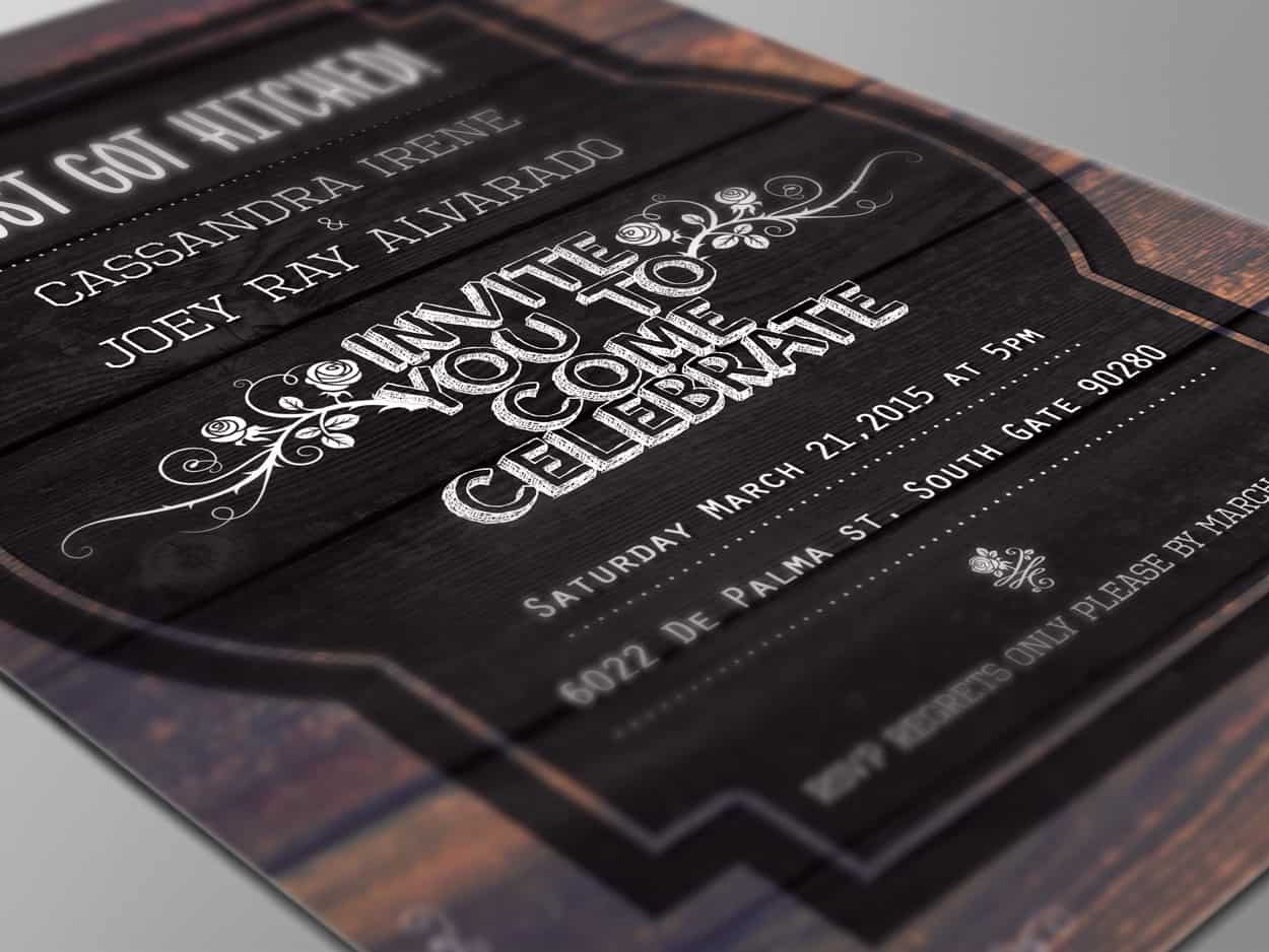joe alvarado - wedding invitation design