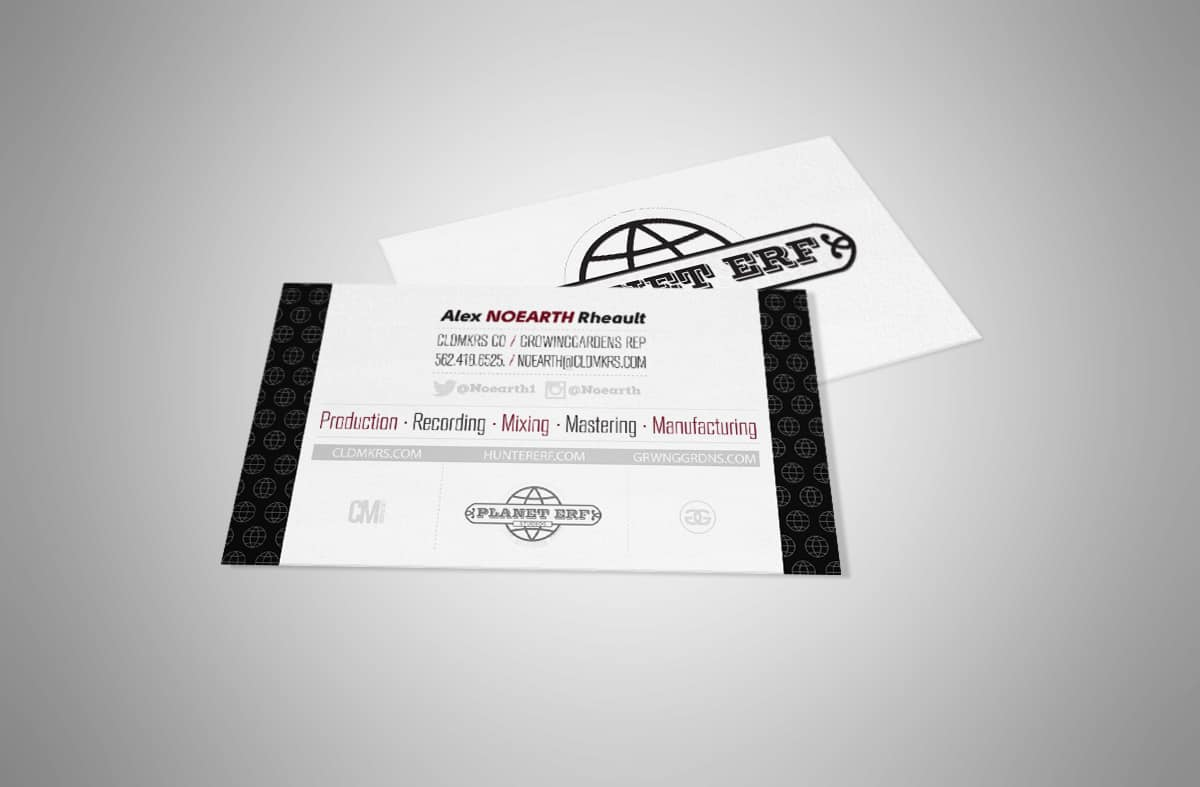 Planet ERF Studios - Business Card Design