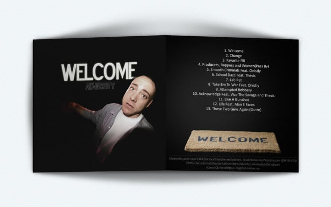 adversity - welcome - album art design