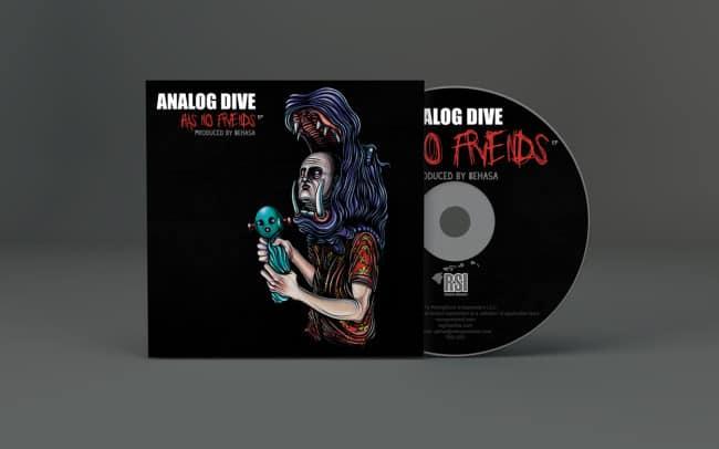 analog dive has no friends - album art design