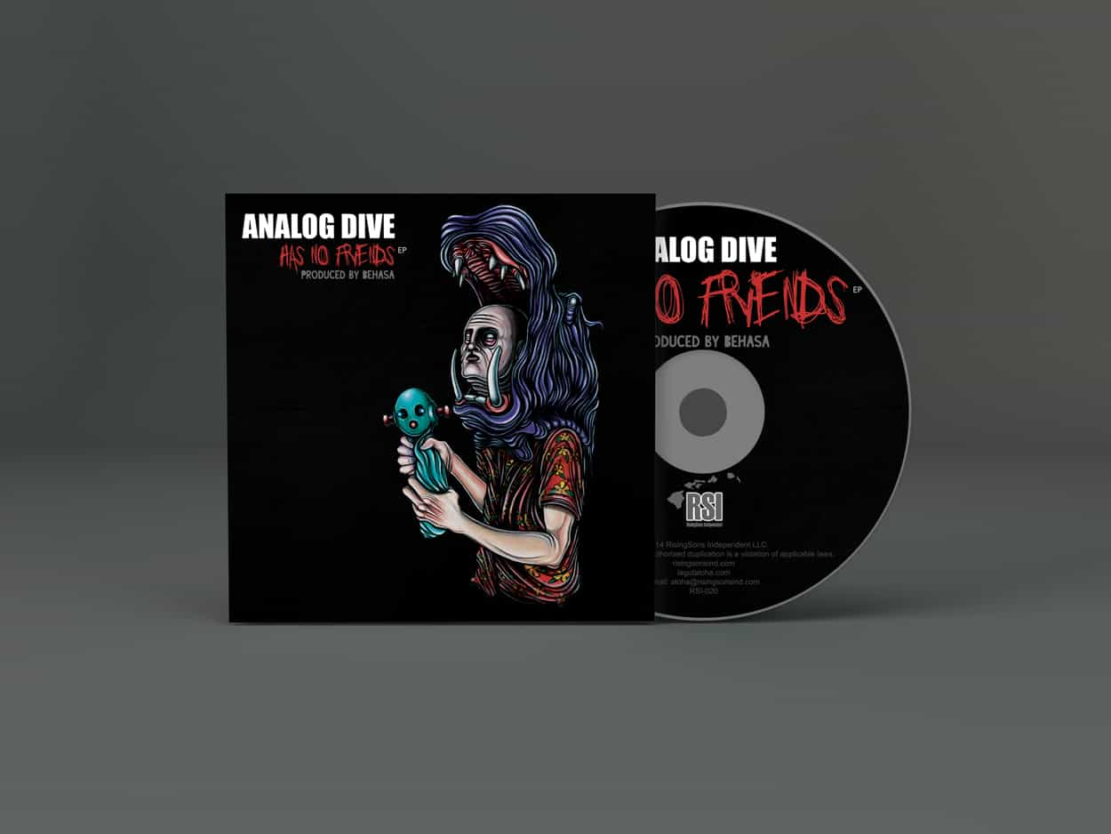 analog dive has no friends - album art design