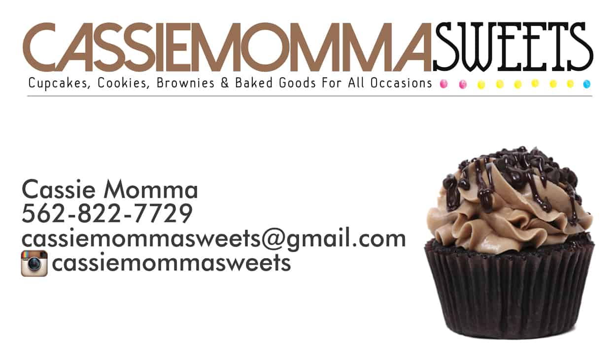 cassiemomma sweets - business card design