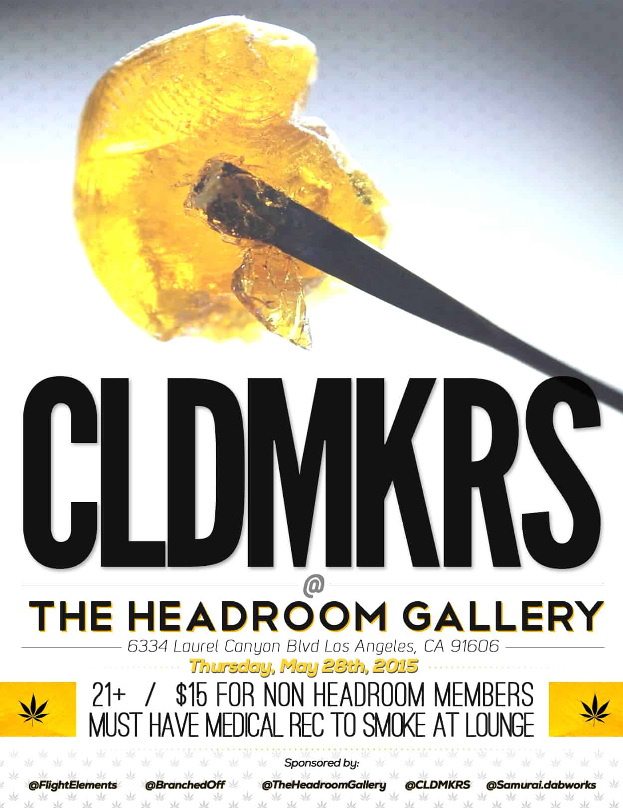 cldmkrs - headroom gallery - flyer design