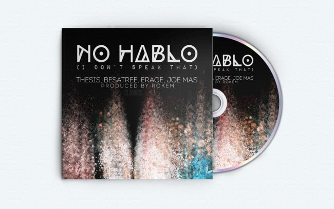 cldmkrs - no hablo - album art design