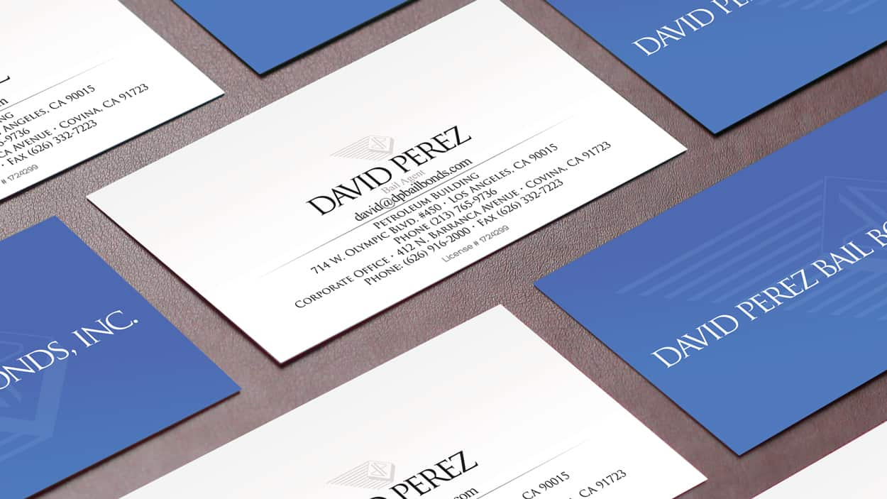 david perez bail bonds - business card design