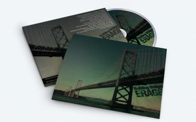 erage - building bridges - album art design