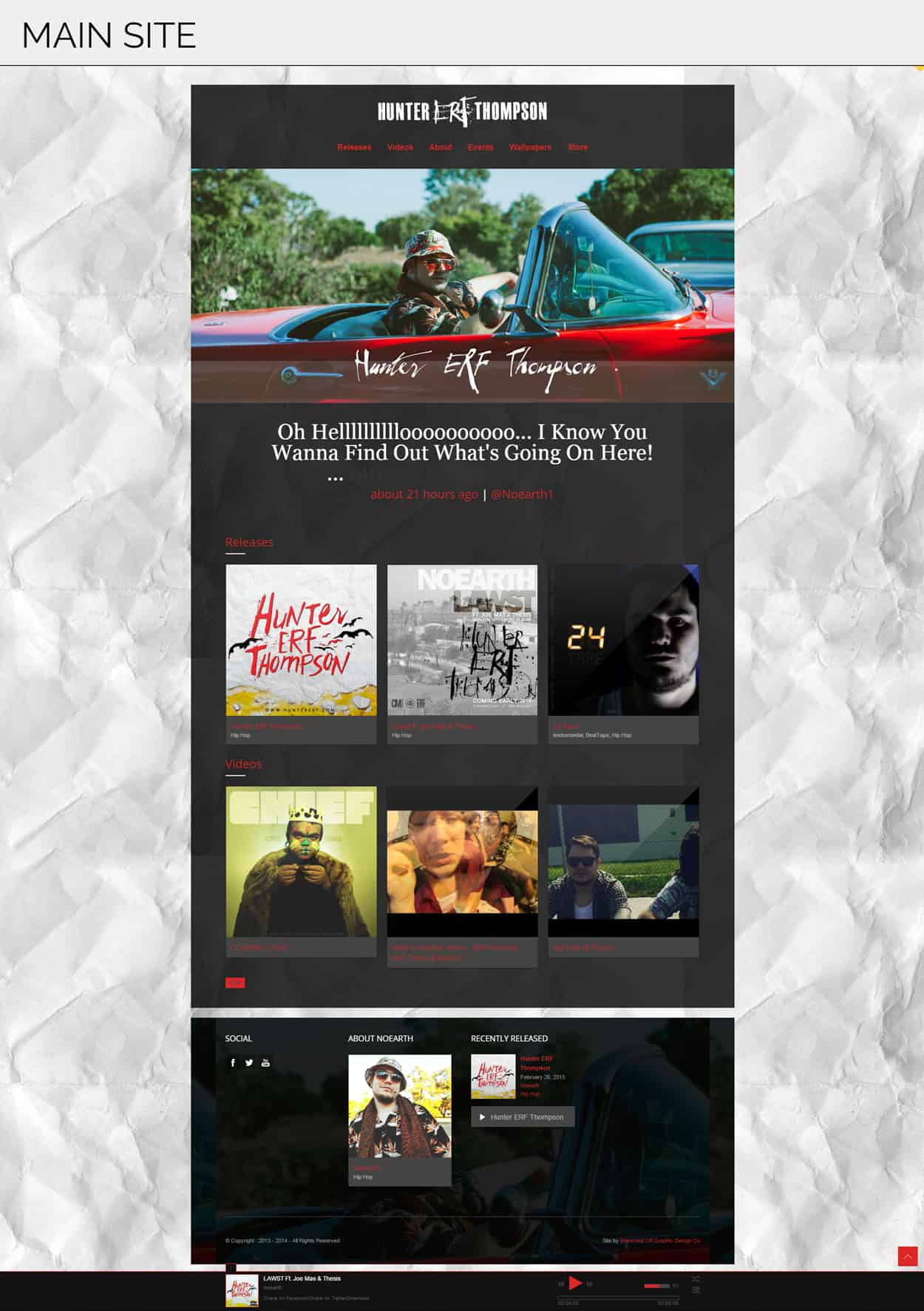 hunter erf thompson - website design - main