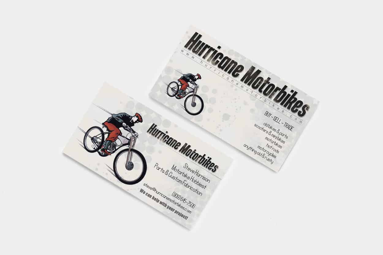 Hurricane Motorbikes - Business Card Design - Branched Off