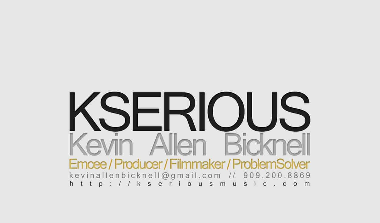 kserious - business card design