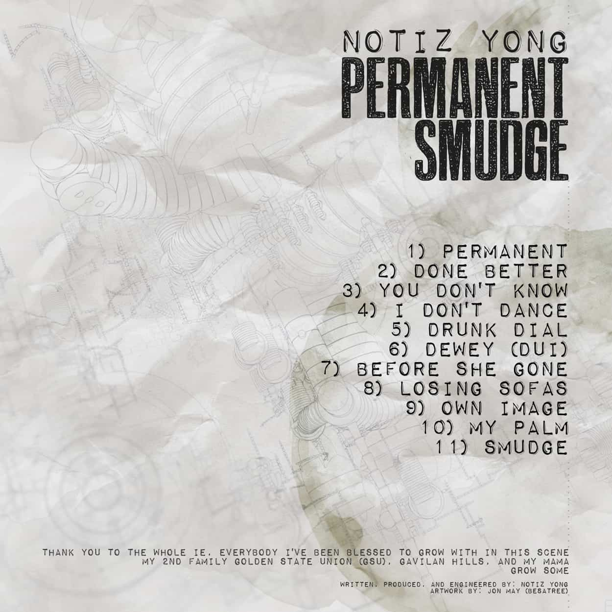 permanent smudge - album art design