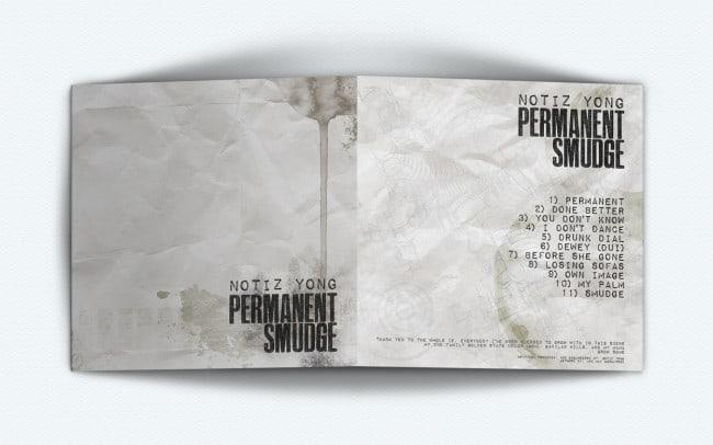 permanent smudge - album art design