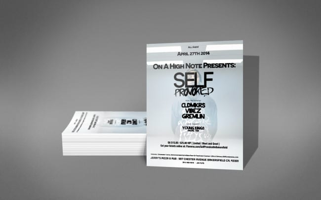 self provoked - flyer design