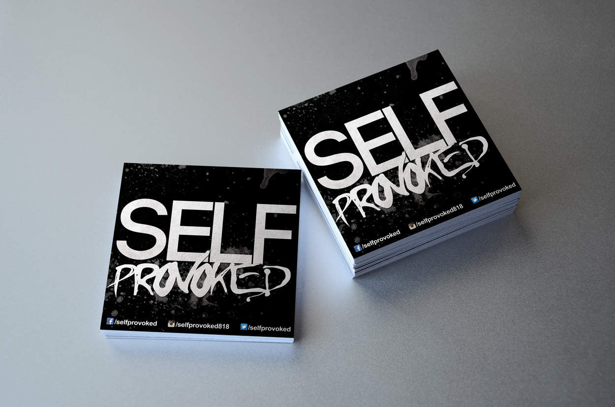 self provoked - sticker design