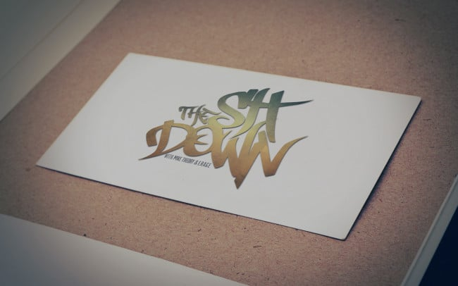 the sit down - logo design