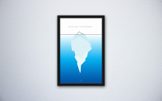 branched off - tip of the iceberg - poster design