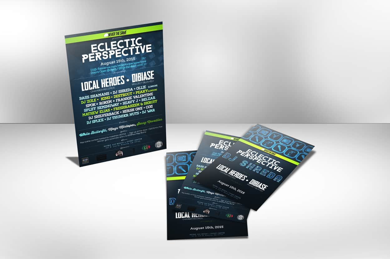eclectic perspective - flyer design