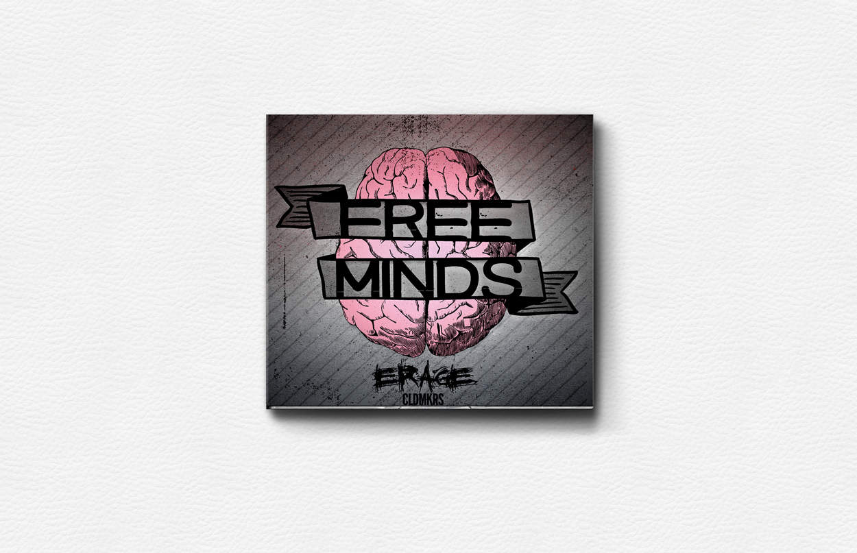 erage - free minds - album art design - photo