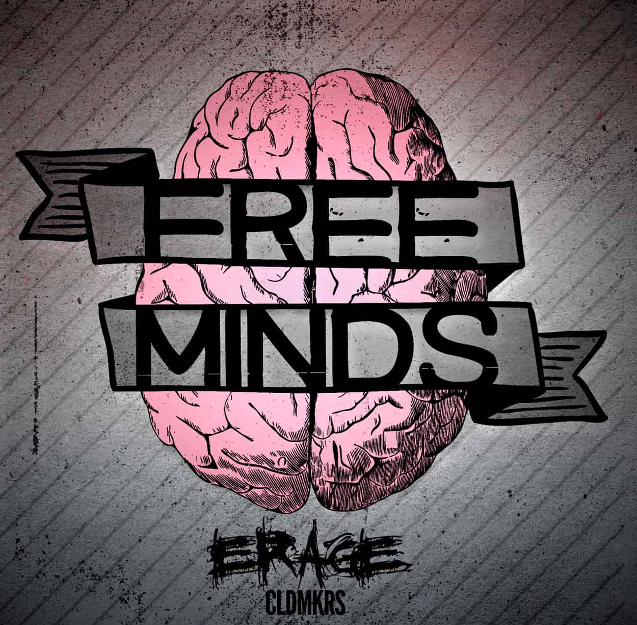 erage - free minds - album art design