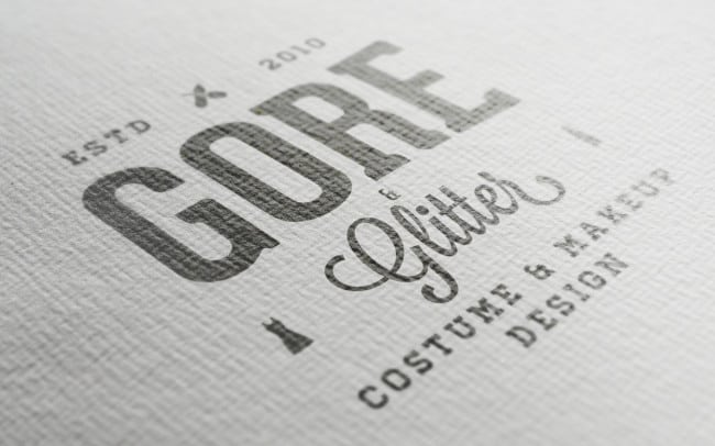 gore & glitter - logo design - photo