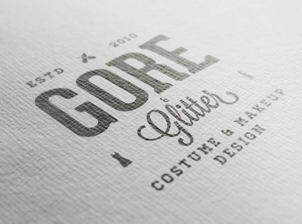 gore & glitter - logo design - photo