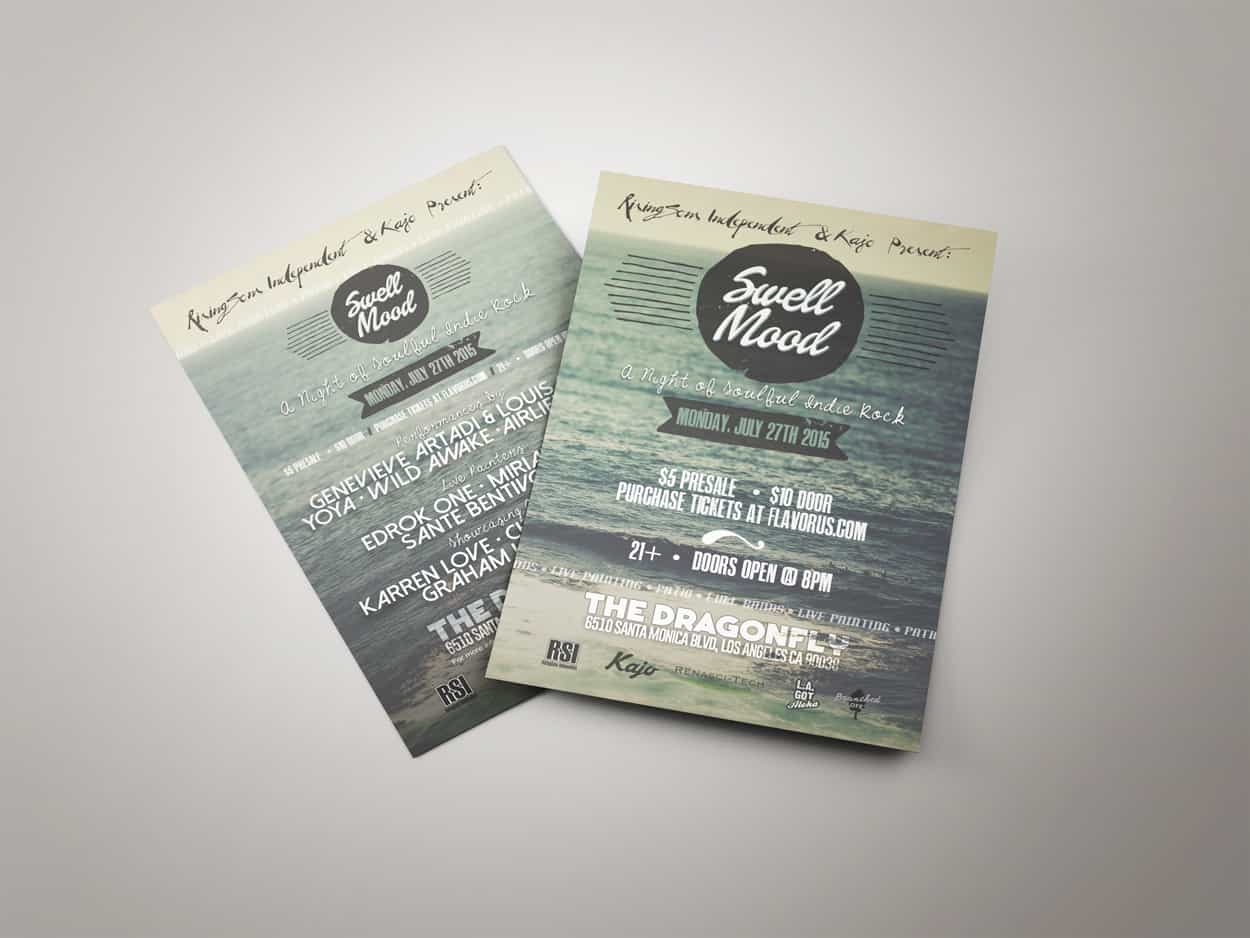 rsi - swell mood - flyer design