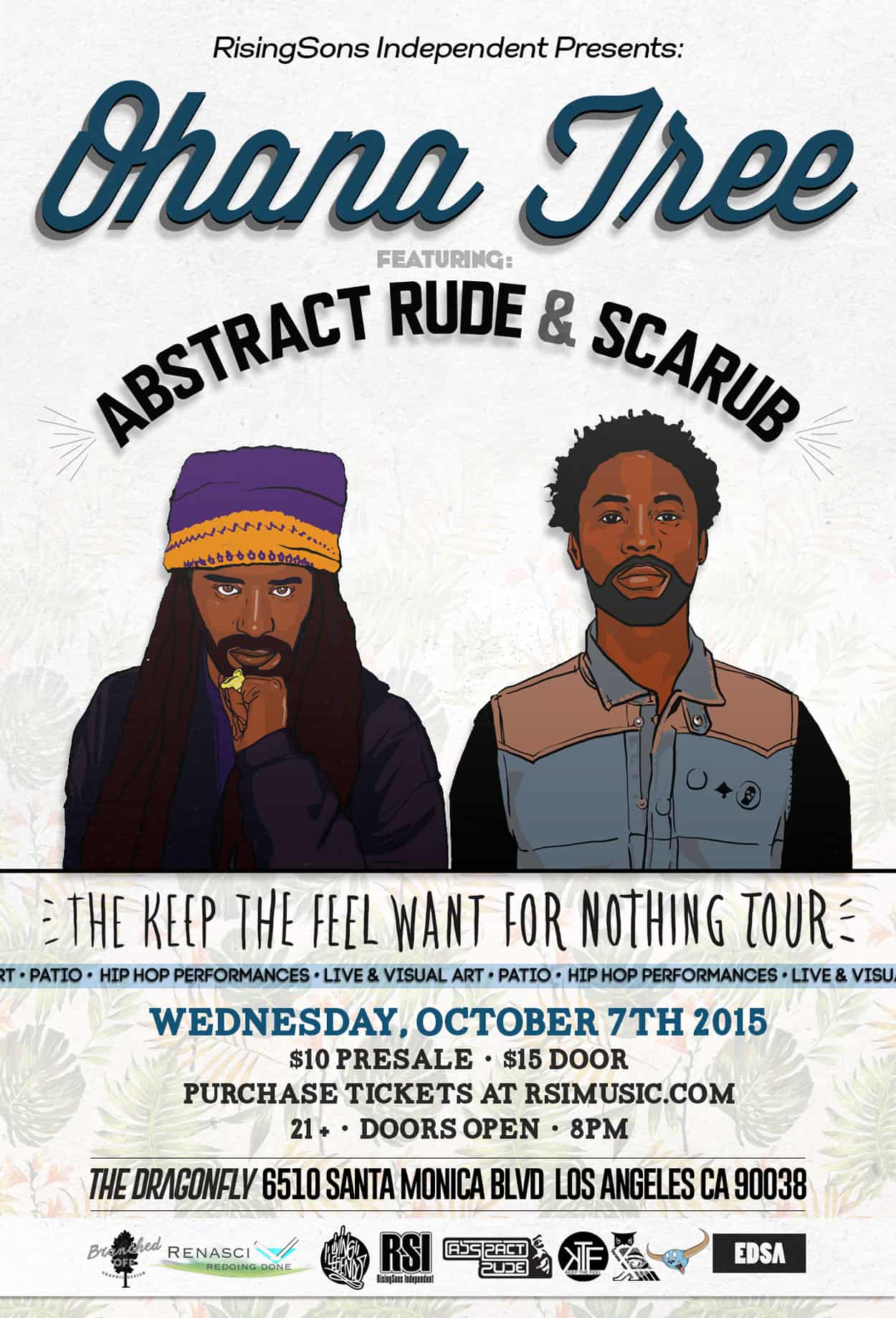 abstract rude and scarub - flyer design