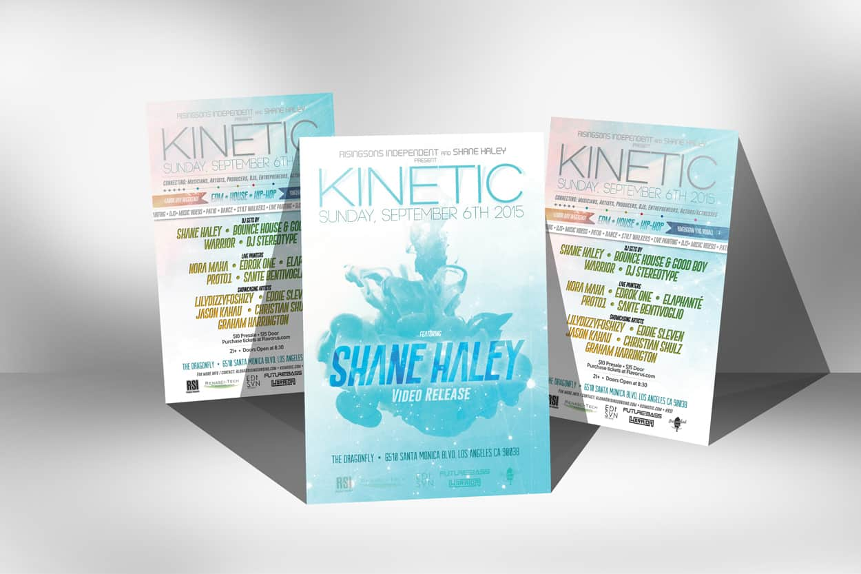 kinetic - flyer design